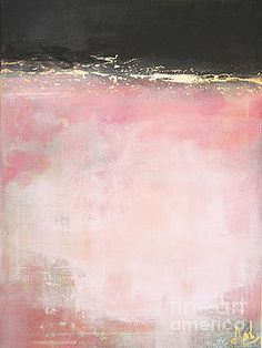 Wall Art and Home Decor - Art, Prints, Posters, Home Decor - Again - Pink and Gold Mixed Media Abstract by Anahi DeCanio for ArtyZen Studios #art #abstract #pink