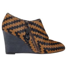 Kimset Wedge Bootie Aztec Pony, $275, now featured on Fab.