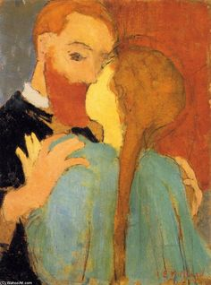 Risultati immagini per Le Baiser - (Edouard Vuillard) Pierre Bonnard, Edouard Vuillard, The Embrace, Philadelphia Museum Of Art, Oil Painting Reproductions, Art Moderne, Anime Comics, Oeuvre D'art, Lovers Art