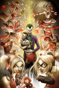 Harley Quinn's with Joker Joker Y Harley Quinn, Harley Quinn Drawing, Der Joker, Joker Art, Joker Comic, Batwoman, Nightwing, Batgirl, Harley Queen