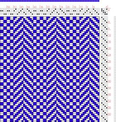 Hand Weaving Draft: Page 25, Figure 1, Textile Design and Color, William Watson, Longmans, Green & Co., 4S, 4T - Handweaving.net Hand Weaving and Draft Archive