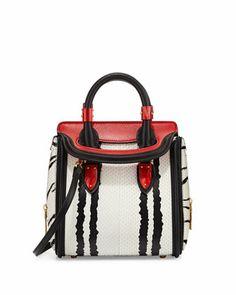 Heroine Mini Snake Satchel Bag, Multi Colors by Alexander McQueen at Bergdorf Goodman.