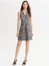 Heritage Zebra-Print Dress from Banana Republic