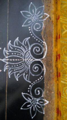 Simple Rangoli Border Designs, Boarder Designs, Rangoli Designs Latest, Rangoli Borders, Rangoli Designs Flower, Free Hand Rangoli Design, Small Rangoli Design, Rangoli Patterns, Border Embroidery Designs