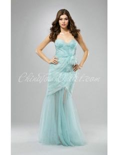 Tulle Sweetheart Flowers A-Line Evening Dresses SKU:300810321  $181.99