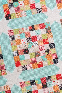 Day 6 of is scrappy quilts. I have many but the first that came to mind was Scrap Happy from my book—Charm School - 18 Quilts from Squares. Can be made with pretty much anything in your stash. Fabric is Farmhouse by for quilting by Charm Pack Quilt Patterns, Charm Pack Quilts, Charm Quilt, Scrappy Quilts, Star Quilts, Easy Quilts, Quilting Fabric, Jellyroll Quilts, Scrap Fabric