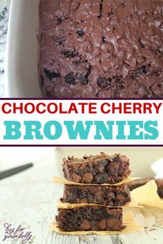The sweetness of cherries brings a new level of flavor in these chocolate cherry brownies. Cherry and chocolate are a match made in heaven! #easychocolatecherrybrownies #chocolatecherrybrownies #chewybrownies #homemadebrownies Bar Recipes, Brownie Recipes, Real Food Recipes, Salted Chocolate, Chocolate Cherry, Cherry Brownies, No Bake Brownies, Cooking For Beginners, Homemade Brownies