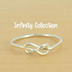 infinity ring, knot, double knot, sterling, silver