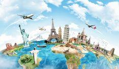 World Tour Travel Illustration. Packing Tips For Travel, Travel Essentials, Travel Guide, Travel And Tourism, Travel Destinations, India Travel, Travel Agency, Travel Around The World, Around The Worlds