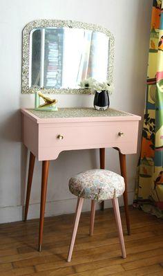 Toeletta vintage in massello di mango | Bedrooms, Vanities and House
