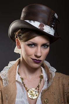 Coolest Look with Steampunk Hat.