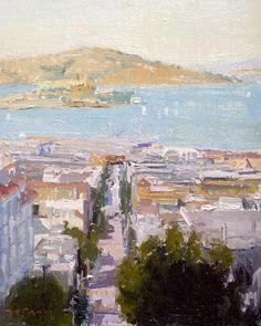 "Painting San Francisco ""The Bay"" 8x10 http://www.paulferney.com/g20102011.html"