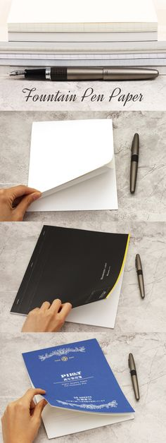 Not sure what paper to pair with your fountain pen? Read our guide for tried and true fountain pen paper friendly recommendations. www.jetpens.com/blog/fountain-pen-paper-recommendations/pt/730?utm_source=pinterest&utm_medium=social&utm_campaign=guides_and_tutorials