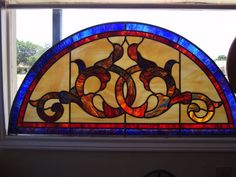 Stained Glass Transom Patterns Stained And Leaded
