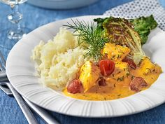 Lax-i-saffranssas-nyttigt-recept Risotto, Food And Drink, Ethnic Recipes, Dinners, Dinner Parties, Food Dinners, Diners