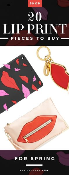 Trending: Lip Prints - 20 awesome lip print graphics and accessories to buy now—from kissable key chains, quirky iPad cases, statement dresses, and must-have bags | StyleCaster.com