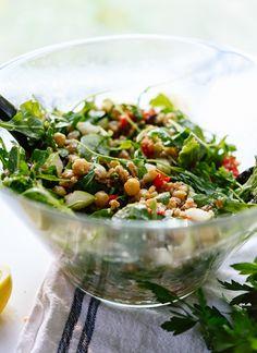Greek farro salad recipe - cookieandkate.com