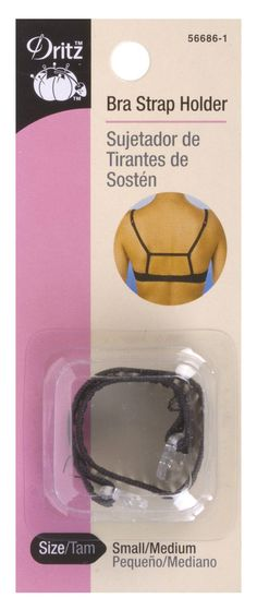 1 count - Black - Size Small/Medium Bra strap holder prevents your bra straps from falling off your shouldersSimple wrap the holder around your strap and slide strap into hook. Tighten and repeat for