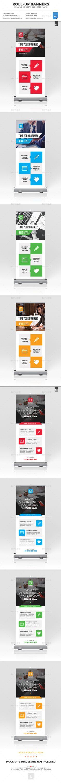 Roll-Up Banner Templates PSD Bundle. Download here: https://graphicriver.net/item/rollup-banner-bundle/17283215?ref=ksioks