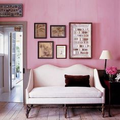 Love pink but afraid to incorporate it into your home? Here are pictures of pink interiors which might inspire you
