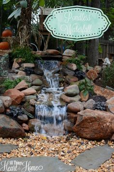 Pondless Waterfall | All Things Heart and Home