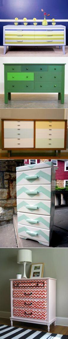 Интерьер, дом, сад, дача: Идеи по обновлению старого комода: покраска и оклейка