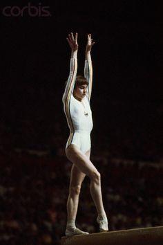 Nadia Comaneci on the Balance Beam