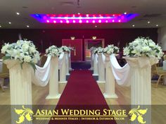 wedding columns | Home Wedding Stages Mehndi Stages Table Decorations Chair Covers House ...