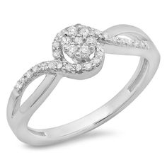 0.30 carat ctw 10k gold round cut diamond ladies by dazzlingrock