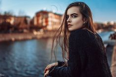 Beautiful City Girl in Sweater Photography