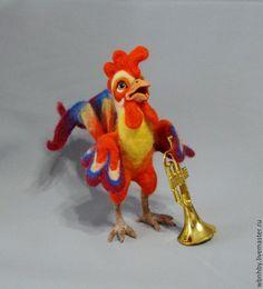 Купить Петушок Маркиз(символ года) - комбинированный, петух, петухи, петушок…