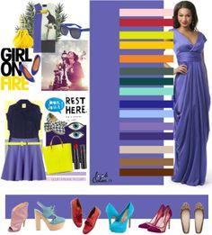 azul lila combinacion