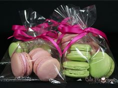 Rose & Pistachio French Macarons baby shower favors