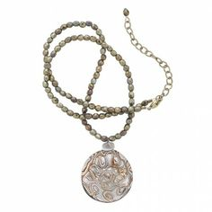 Avec du marron....ou des teintes plus pâles en été. Glass Swirl Pendant Necklace - Necklaces - Jewelry - Products