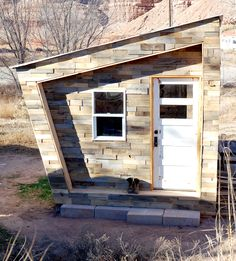 a microhouse from found lumber: http://foundhouse.cc/ http://blog.foundhouse.cc/
