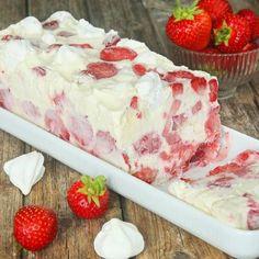 Maräng- & jordgubbsglasstårta – Lindas Bakskola