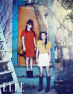 Dara & Bom for Elle Korea   November 2011
