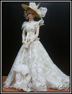 Barbie Bridal, Barbie Wedding Dress, Wedding Doll, Barbie Gowns, Barbie Dress, Barbie Clothes, Wedding Dresses, Bride Dolls, Victorian Dolls