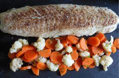 Pav� de cabillaud cuisson douce et ses l�gumes vapeur, facile et pas cher