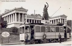 Tram Car A2.2 219 in front of the Bavaria Statue, around 1920