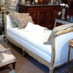 Antique French Daybed from Fireside Antiques in Baton Rouge , La.