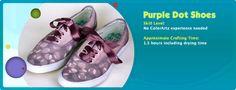 DIY Purple Dot Shoes