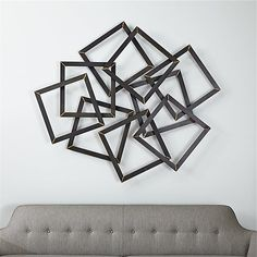 Multi Squares Metal Wall Decor | Crate and Barrel