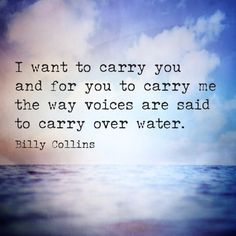 """billy collins quotes   portion of """"Carry"""" by Billy Collins."""