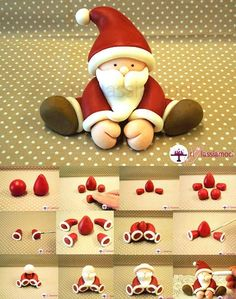 Fondant Santa tutorial - For all your Christmas cake decorat.- Fondant Santa tutorial – For all your Christmas cake decorations, please visit w… Fondant Santa tutorial – For all your Christmas cake decorations, please visit www.