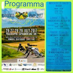 VERDICCHIO RACE  2017 CUPRAMONTANA,  POGGIO CUPRO, 26-27-28-29 Luglio 2017. PROGRAMMA