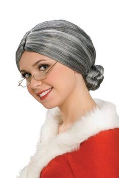 Rubies Costume Chrcters Old Wigs Ldy Mrs Snt Wig One  #Rubies