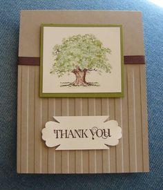 Masculine Thank you by TinyAcorns - Cards and Paper Crafts at Splitcoaststampers - blossom punch for sentiment