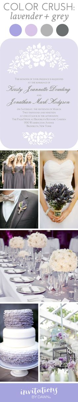 Wedding Color Crush: Lavender and Grey #purplewedding #colincowie #floralwedding