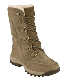 Greige Suede Canard Boot - Women